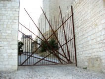 Porte d'entrée du château de Chinon
